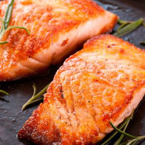 Grilled Salmon with Orange Marinade